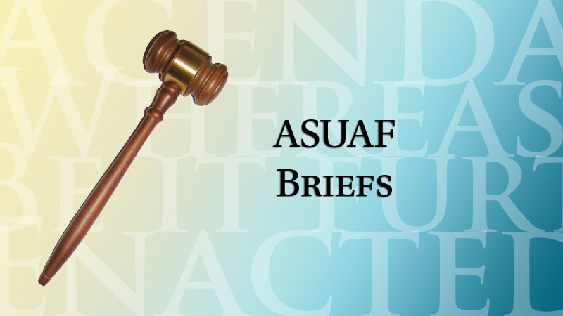 ASUAF meets regularly to discuss the welfare of students on and off campus.