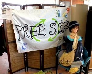 "The Free Store is located inside the Office of Sustainability. You can visit www.uaf.edu/sustainability to learn about the office and how to ""go green"" on campus. Jessica Herzog / Sun Star"